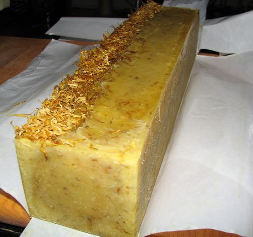Calendula Orange Soap Loaf