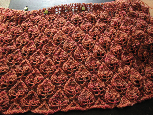 Woodland Shawl Progress